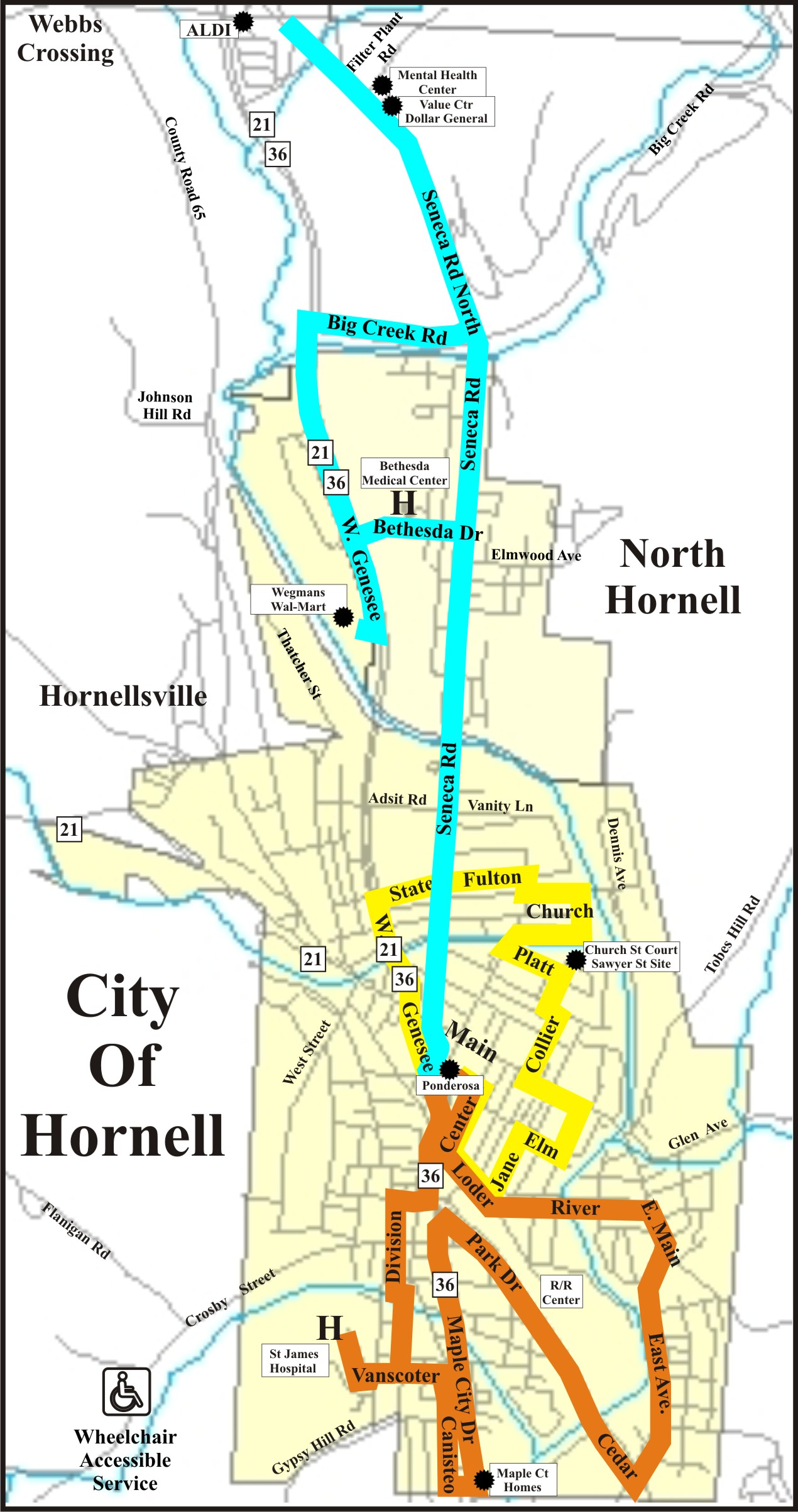 Picture of Inner City Route Map
